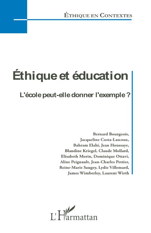 Éthique et éducation. L'école peut-elle donner l'exemple ? Image