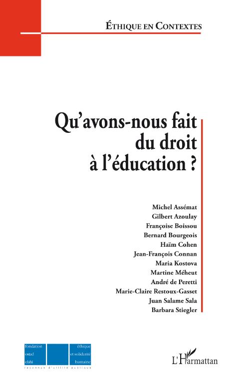 Qu'avons-nous fait du droit à l'éducation ? Image