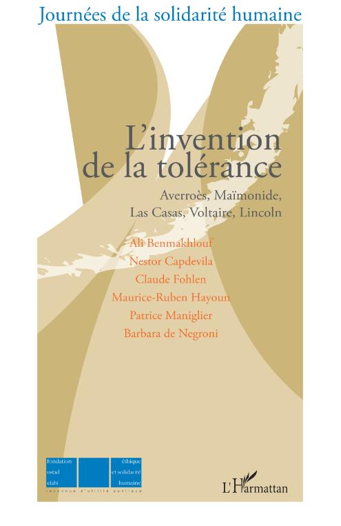 L'invention de la tolérance [...] Image